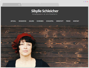 Screenshot der Website sibylleschleicher.de